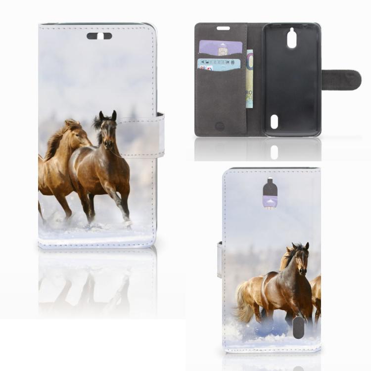 Huawei Y625 Telefoonhoesje met Pasjes Paarden