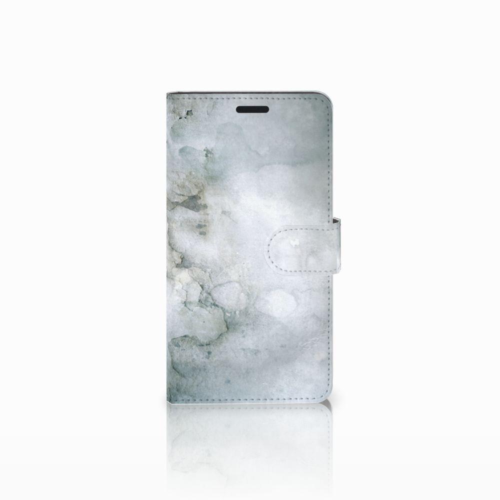 Sony Xperia T3 Uniek Boekhoesje Painting Grey