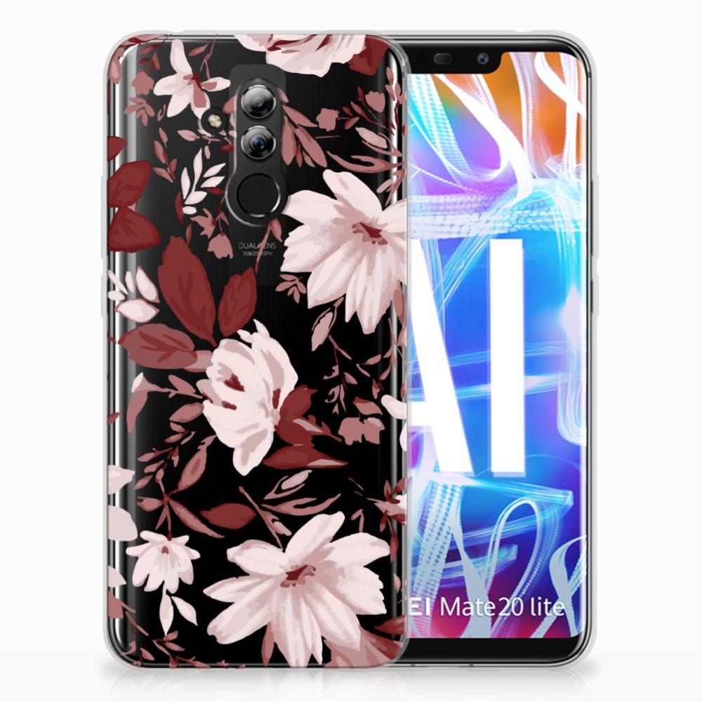 Huawei Mate 20 Lite Uniek TPU Hoesje Watercolor Flowers