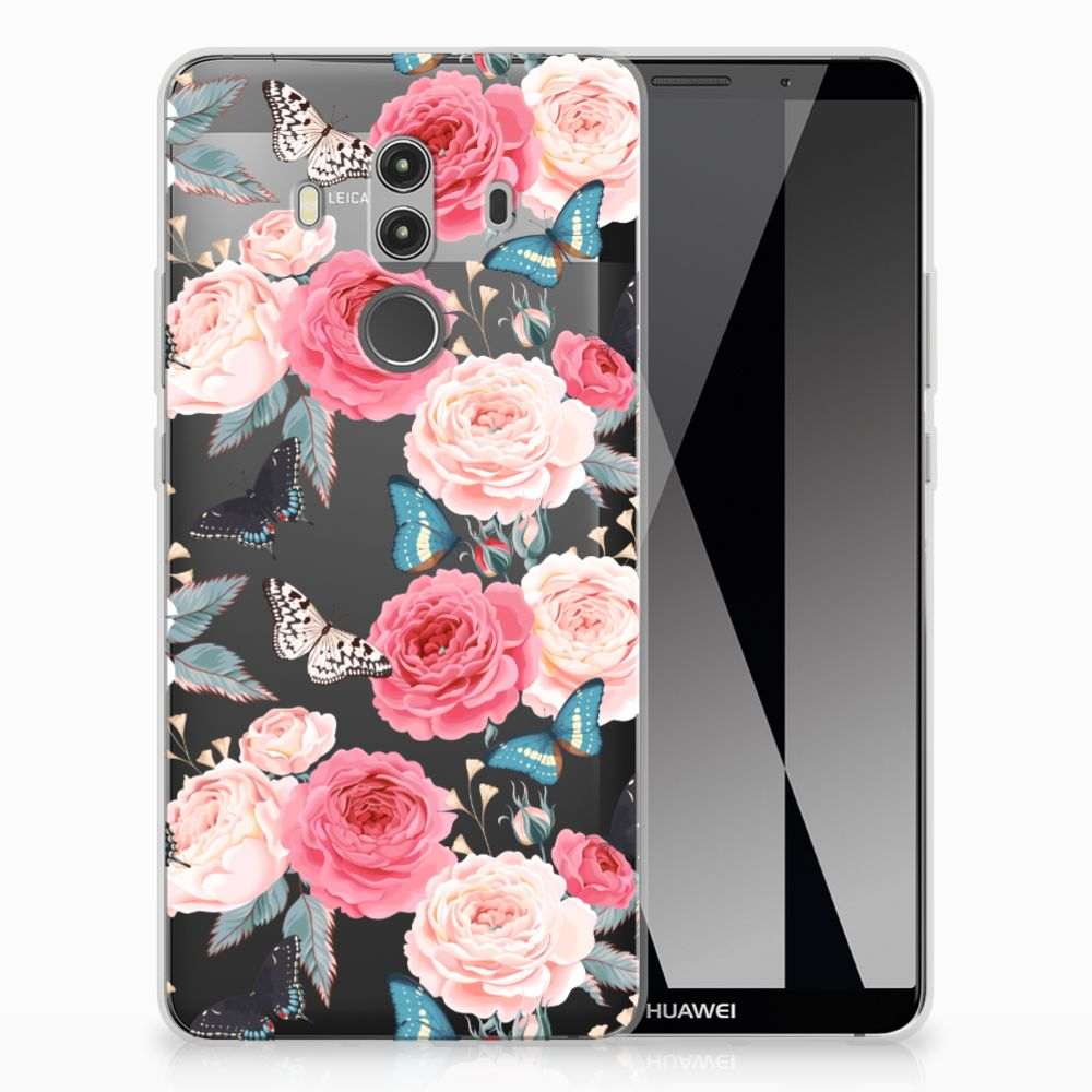 Huawei Mate 10 Pro TPU Case Butterfly Roses