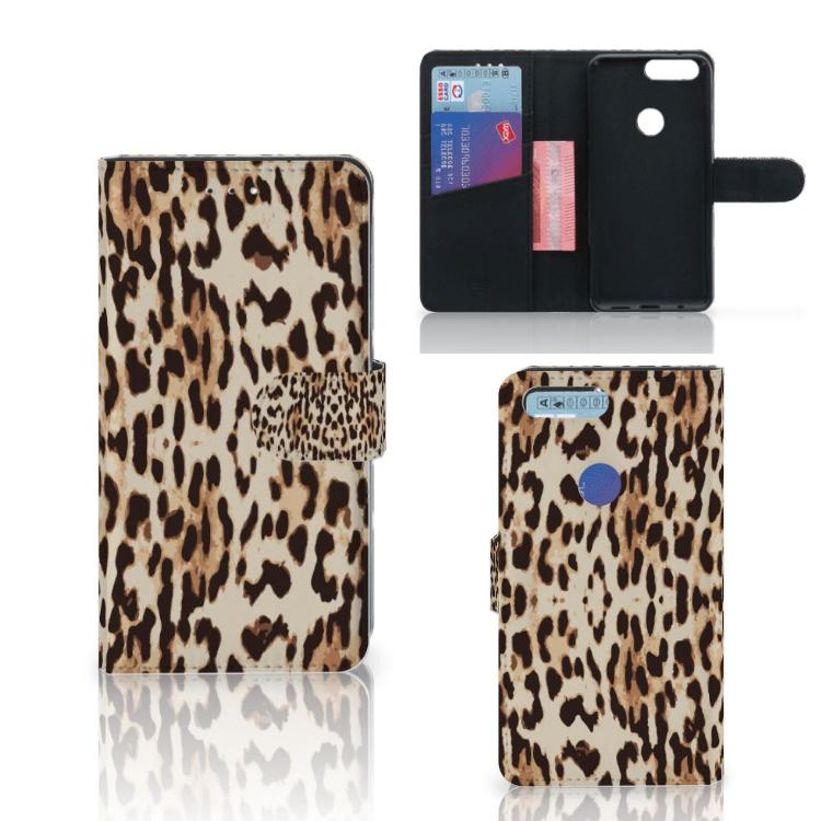 OnePlus 5T Telefoonhoesje met Pasjes Leopard
