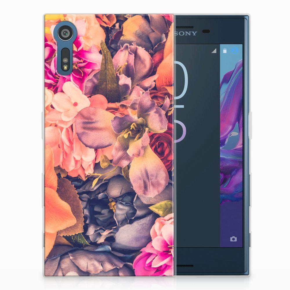Sony Xperia XZs | XZ TPU Hoesje Design Bosje Bloemen