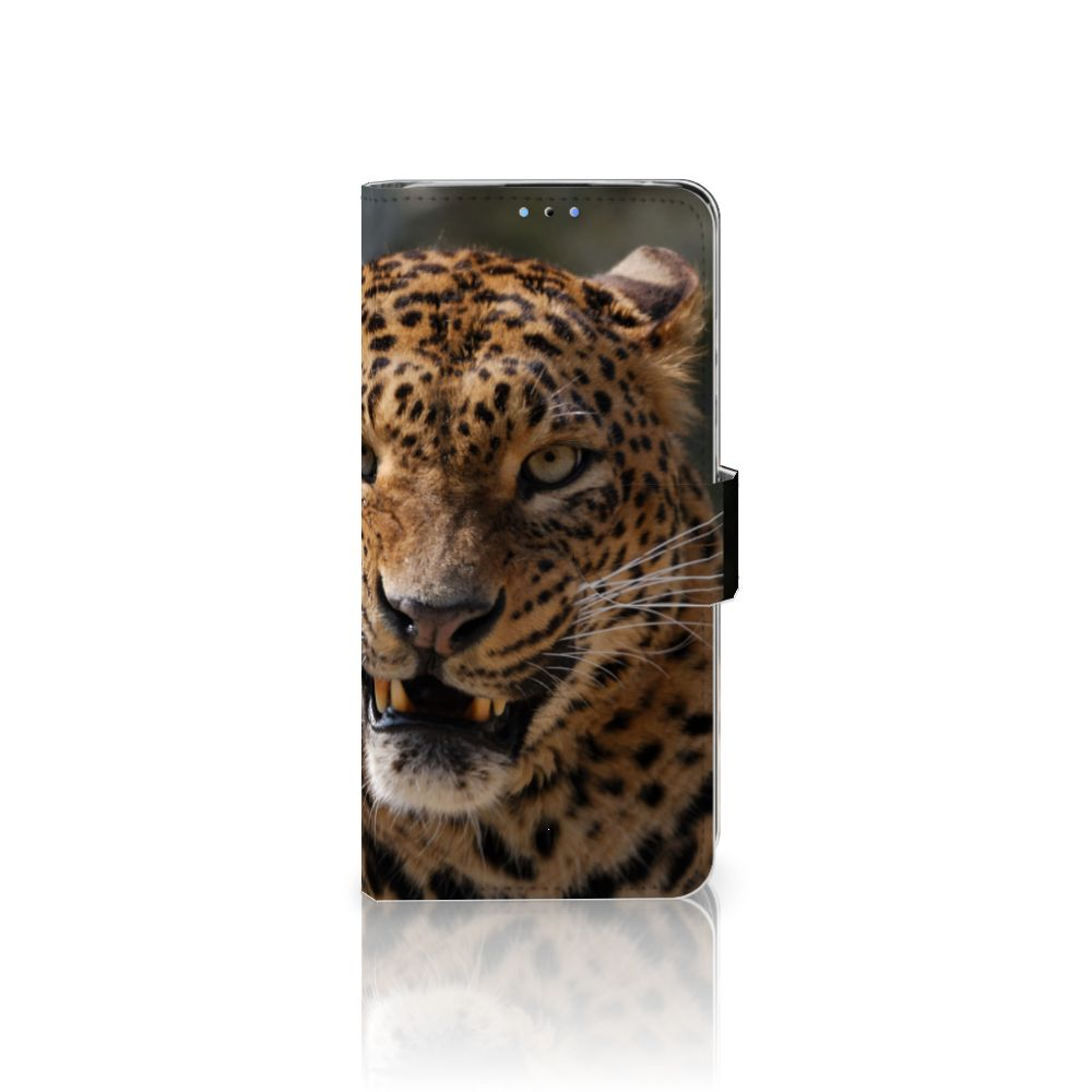 Huawei P30 Lite (2020) Telefoonhoesje met Pasjes Luipaard