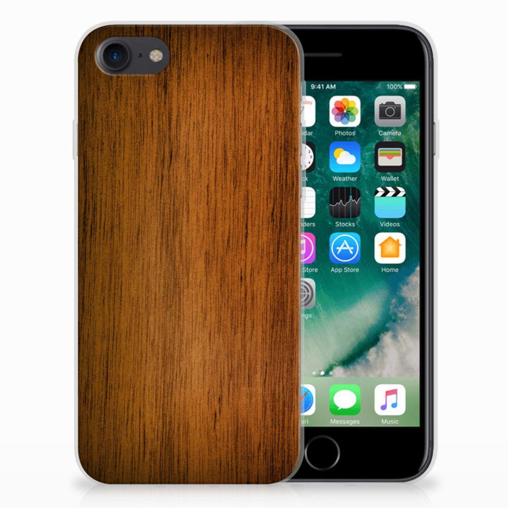 Apple iPhone 7 | 8 Uniek TPU Hoesje Donker Hout