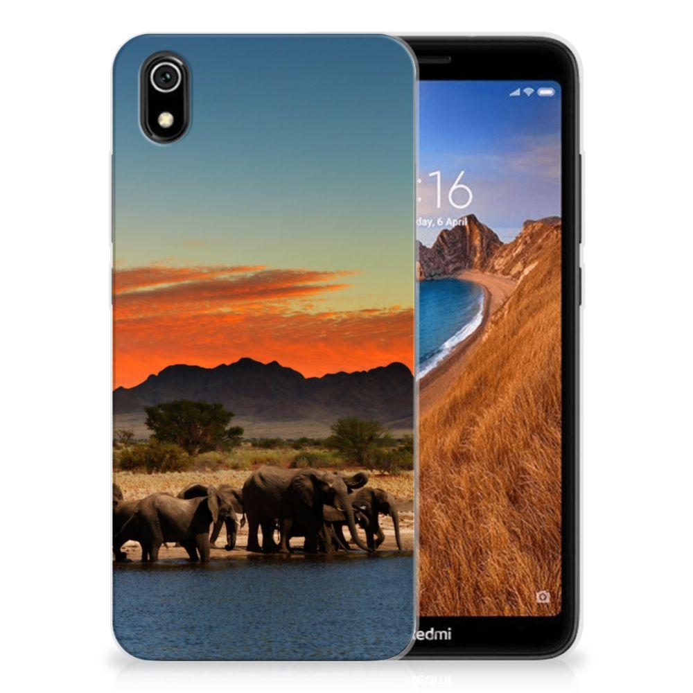 Xiaomi Redmi 7A TPU Hoesje Olifanten