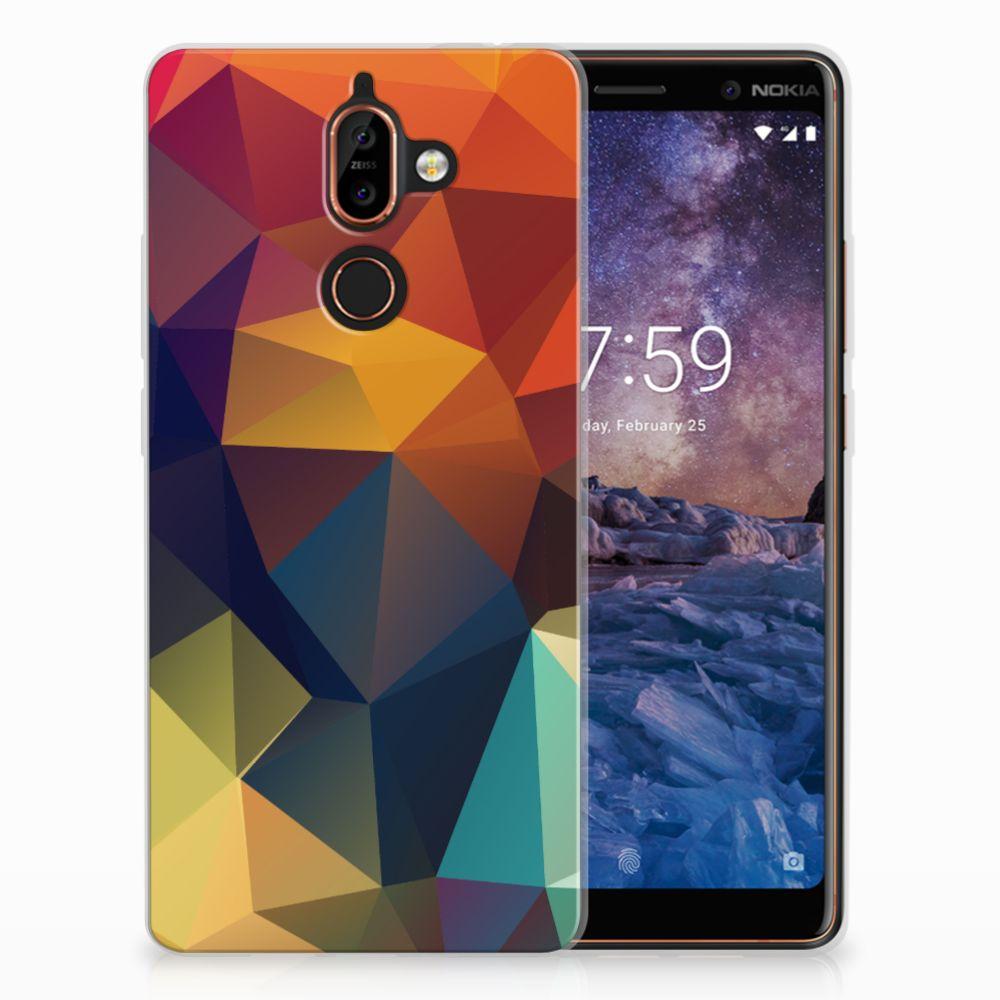 Nokia 7 Plus TPU Hoesje Polygon Color