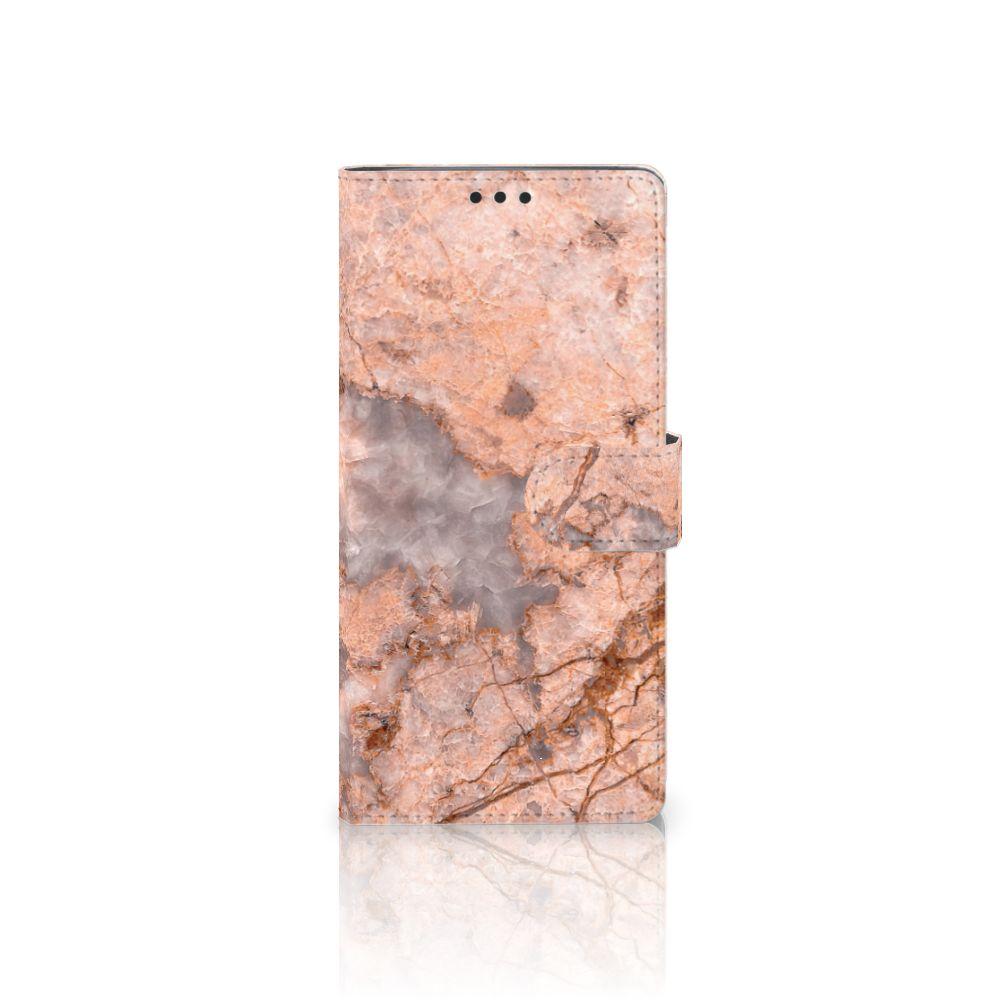 Sony Xperia XA Ultra Boekhoesje Design Marmer Oranje