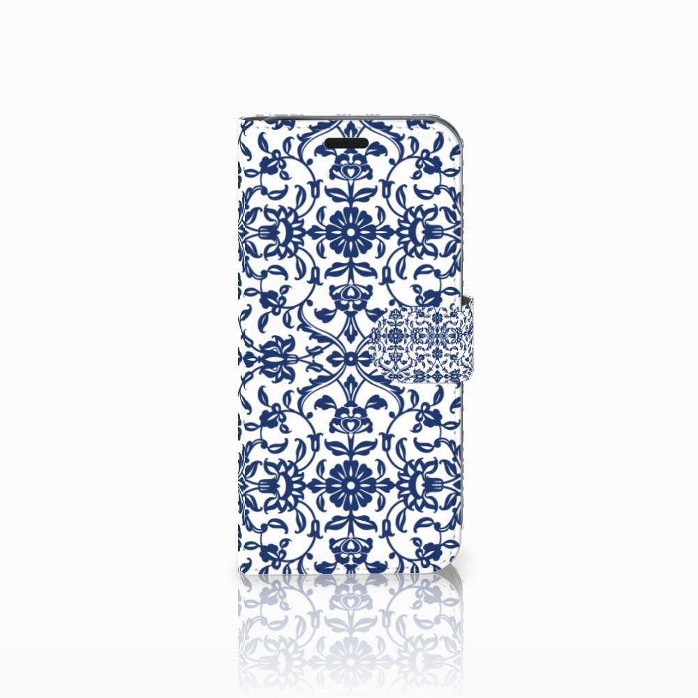 Acer Liquid Z630 | Z630s Boekhoesje Flower Blue