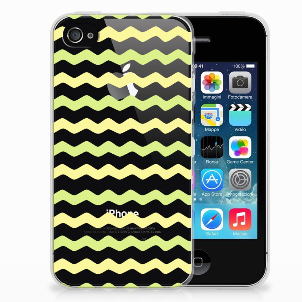 Apple iPhone 4 | 4s TPU bumper Waves Yellow