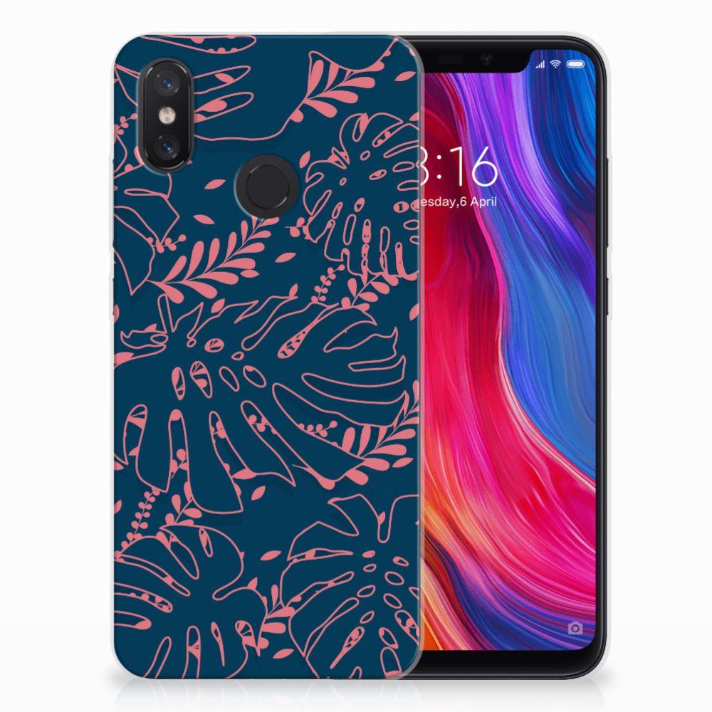 Xiaomi Mi 8 TPU Hoesje Design Palm Leaves