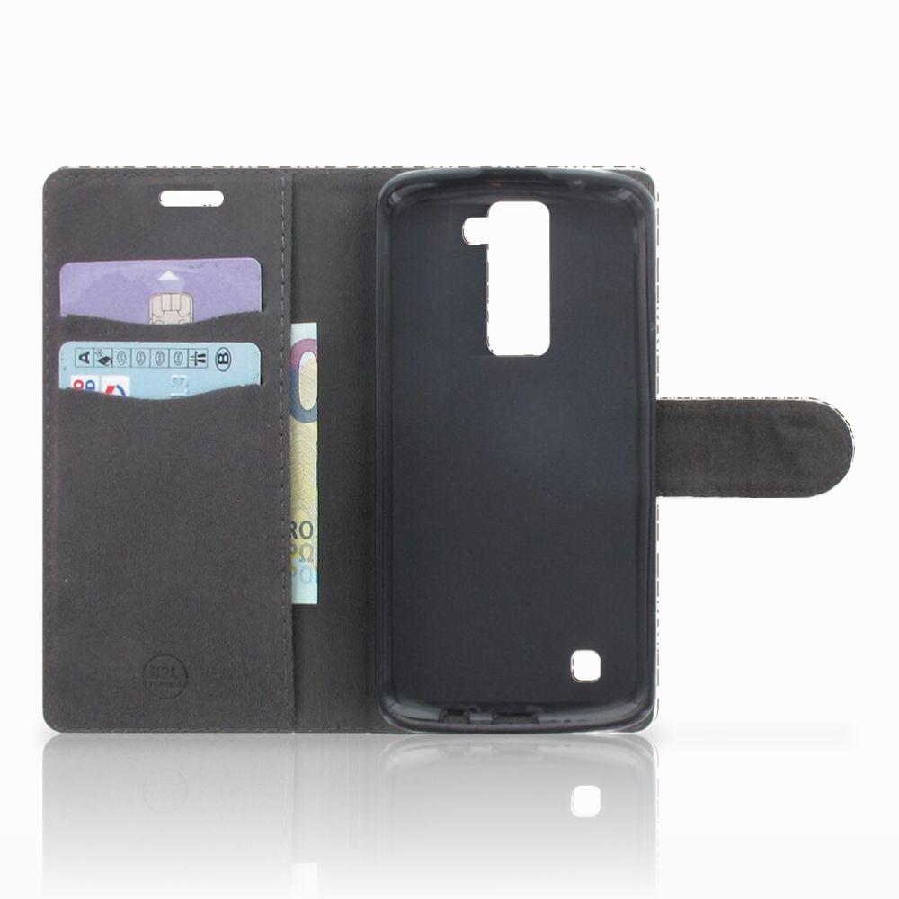 LG K10 2015 Telefoon Hoesje Aztec Brown