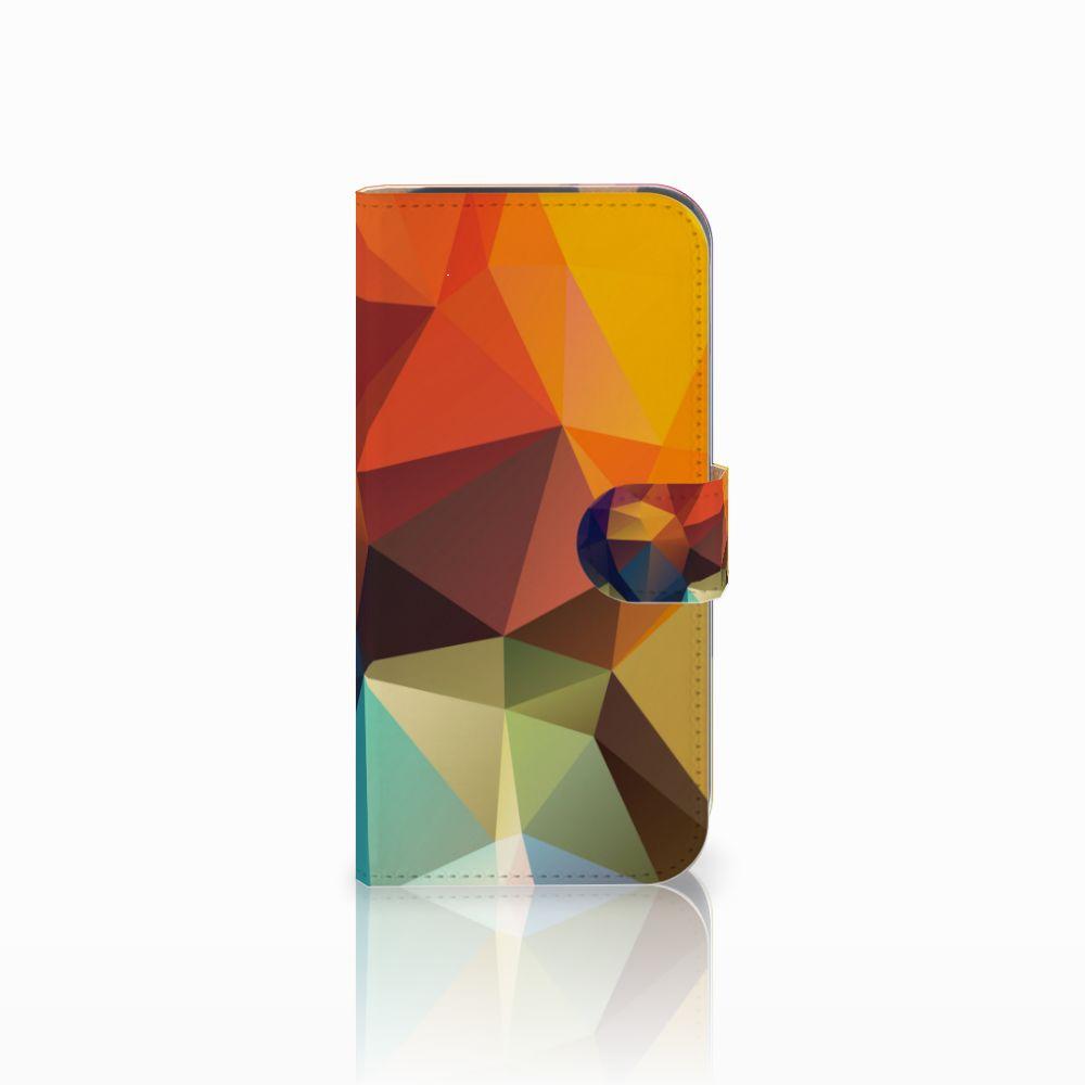 HTC One M8 Bookcase Polygon Color