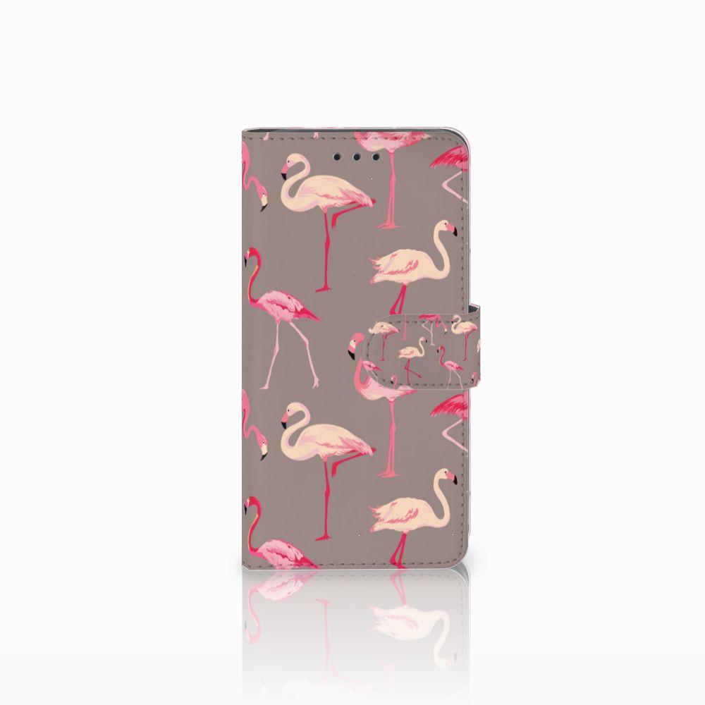 Huawei G8 Uniek Boekhoesje Flamingo