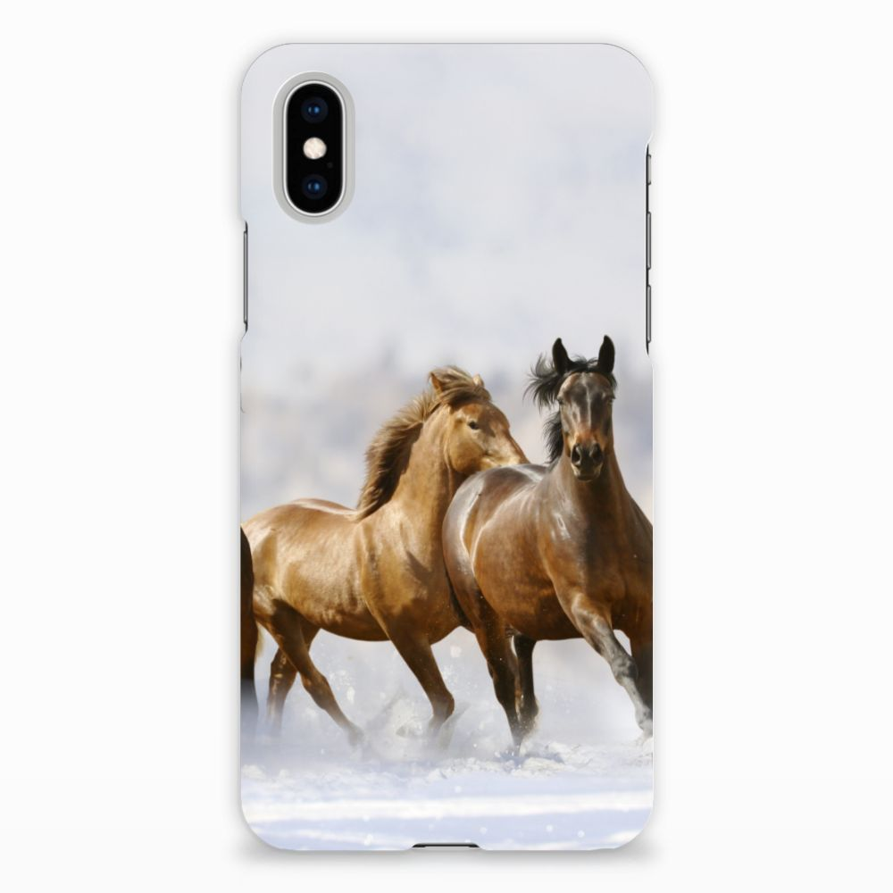 Apple iPhone X | Xs Rubber Case Paarden