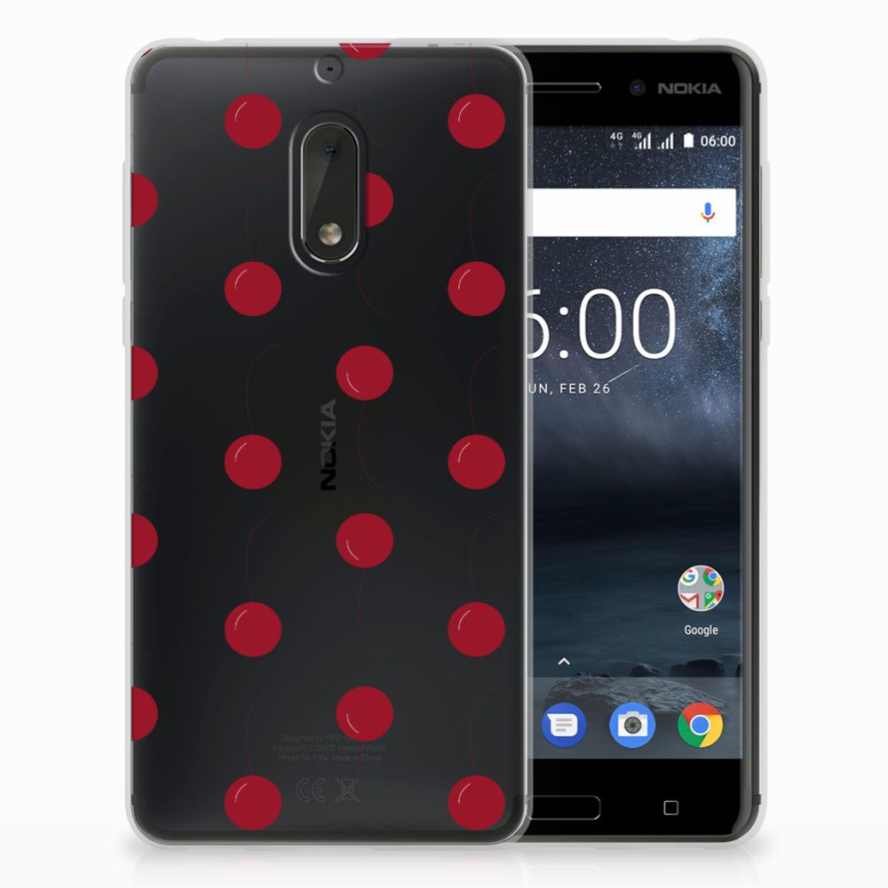 Nokia 6 Siliconen Case Cherries