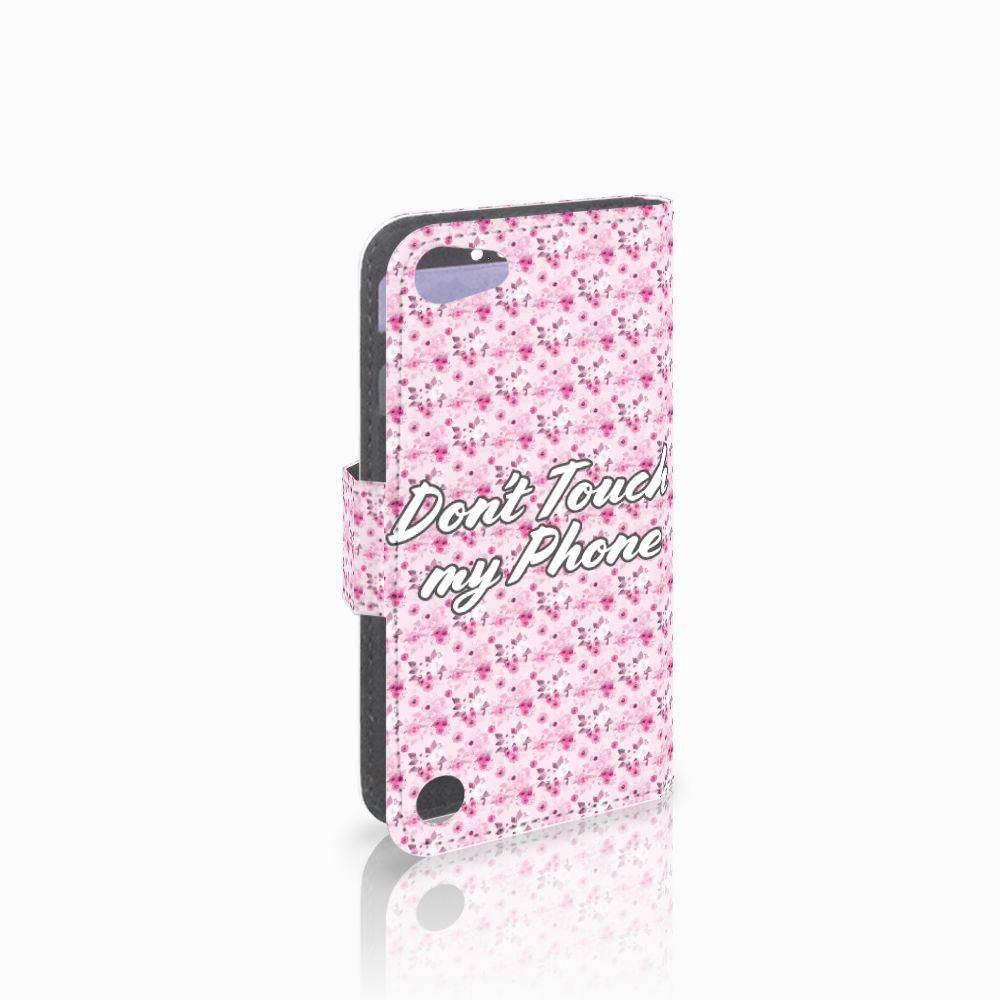 Apple iPod Touch 5 | 6 Uniek Boekhoesje Flowers Pink DTMP