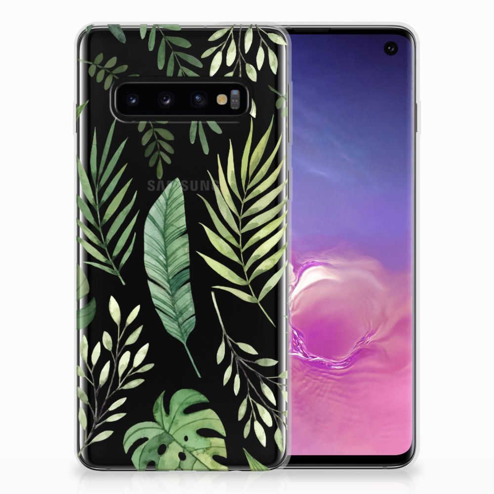 Samsung Galaxy S10 TPU Case Leaves