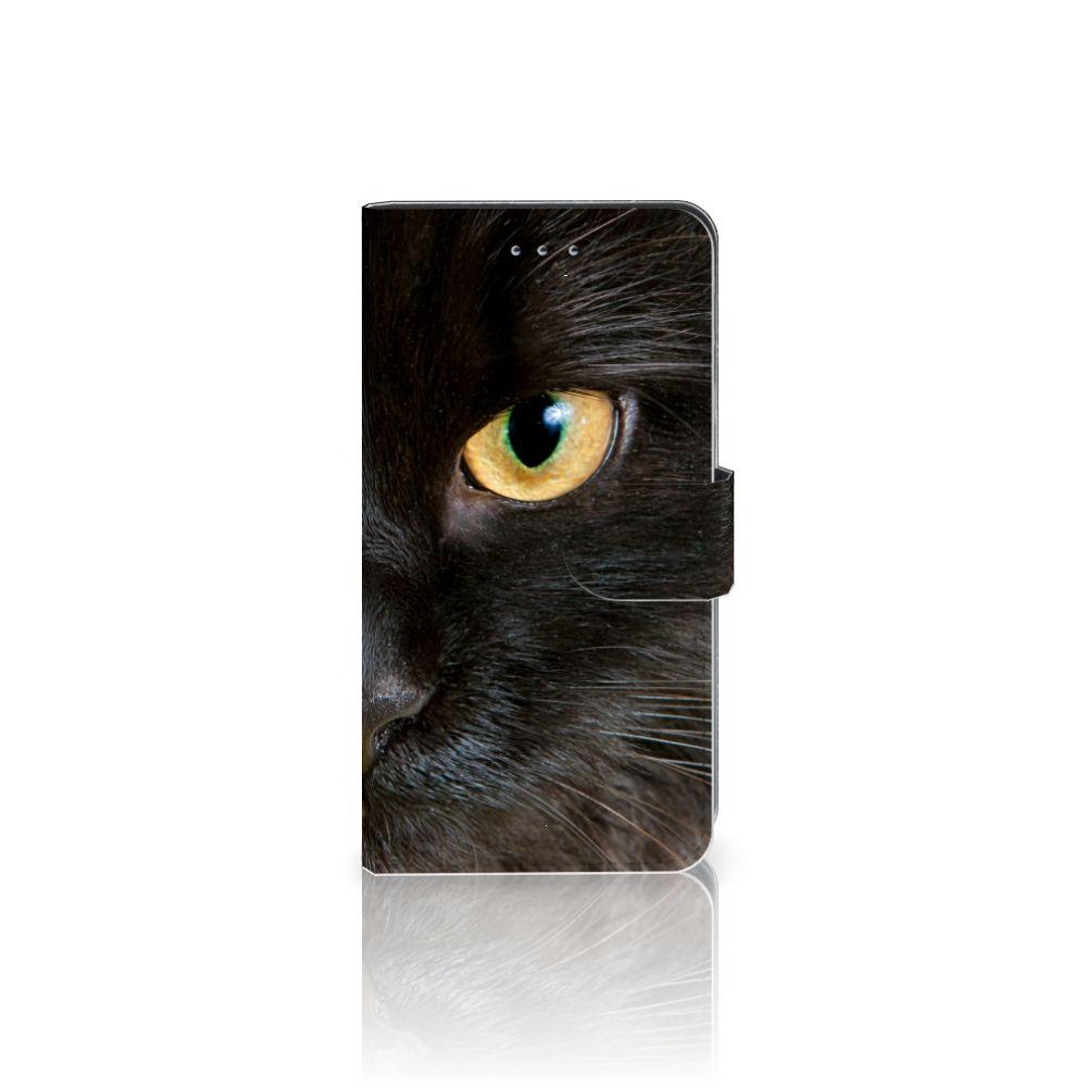 Samsung Galaxy J4 2018 Uniek Boekhoesje Zwarte Kat