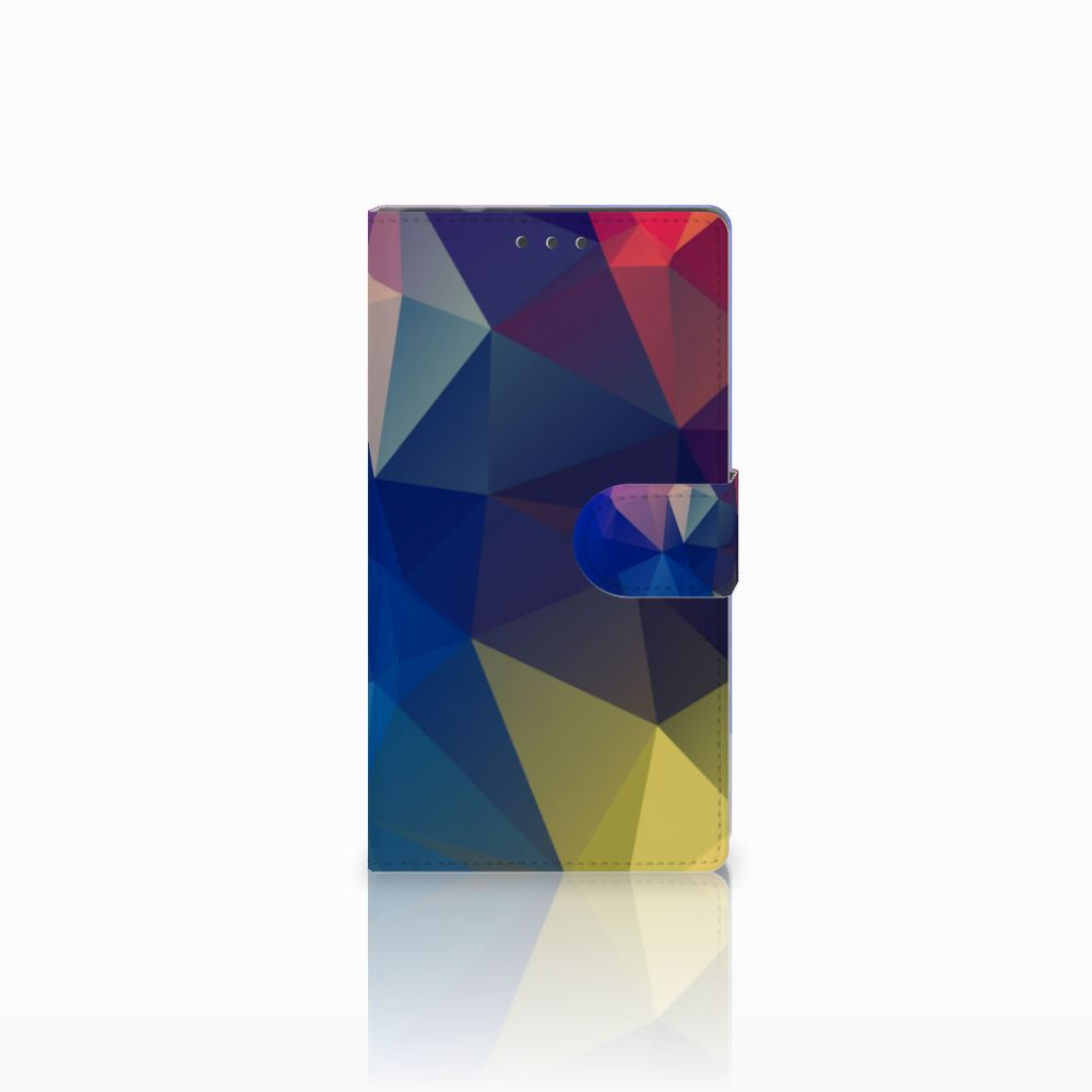 Samsung Galaxy Note 4 Uniek Boekhoesje Polygon Dark