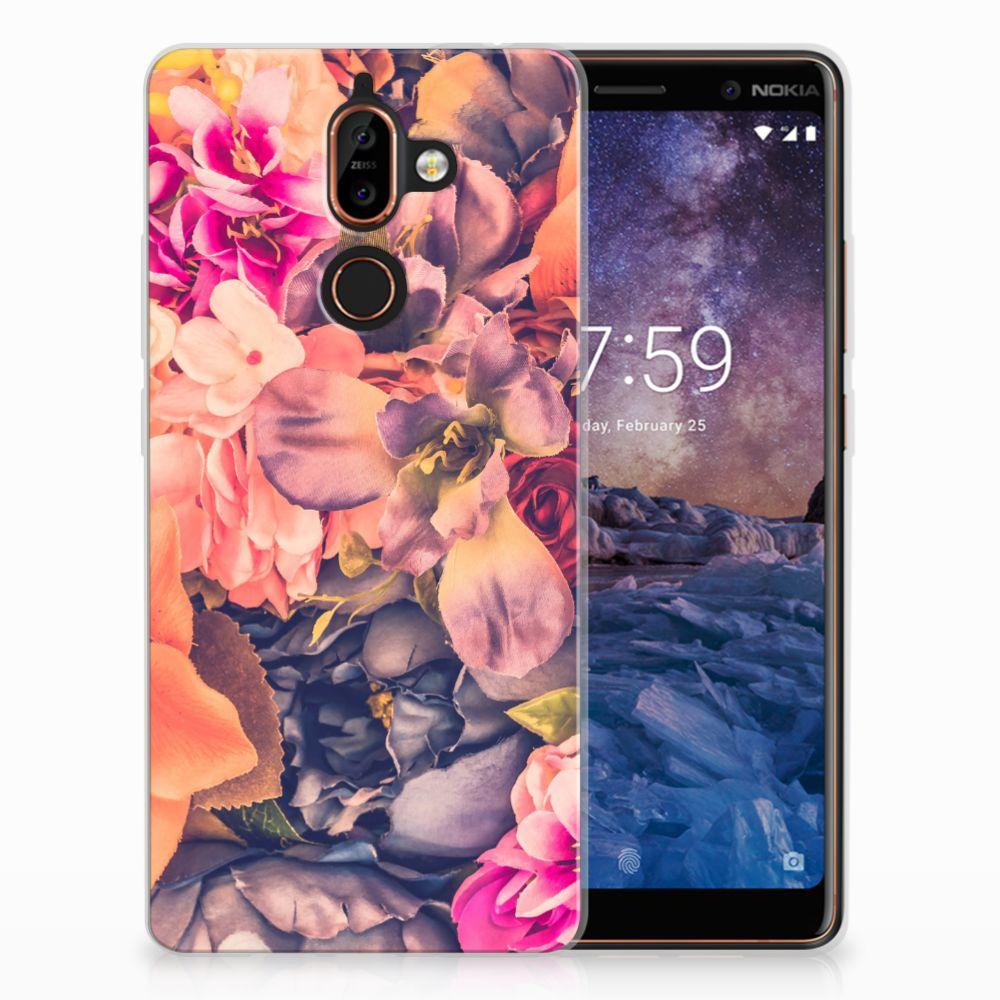 Nokia 7 Plus TPU Hoesje Design Bosje Bloemen