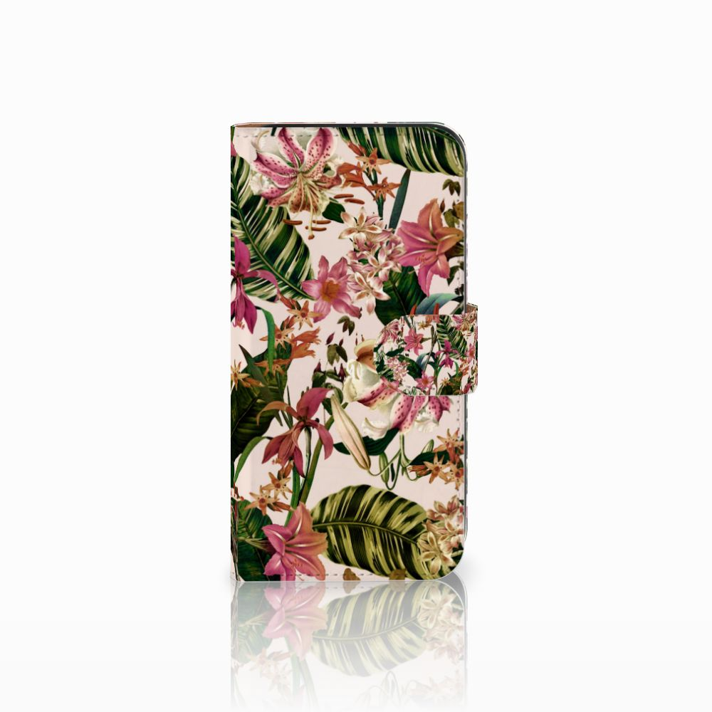 Samsung Galaxy E5 Uniek Boekhoesje Flowers