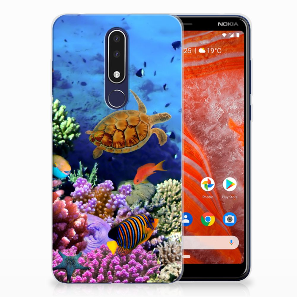 Nokia 3.1 Plus TPU Hoesje Design Vissen