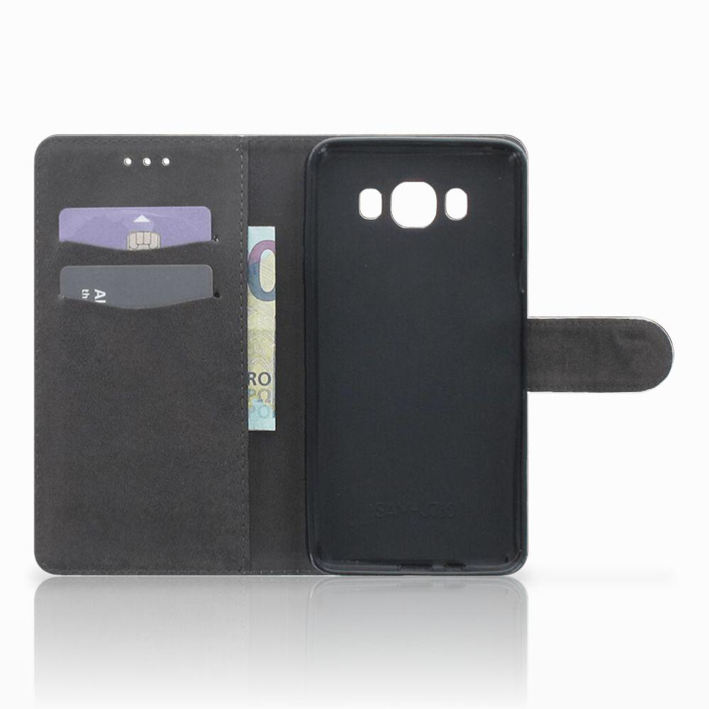 Telefoonhoesje met Pasjes Samsung Galaxy J7 2016 Britse Korthaar