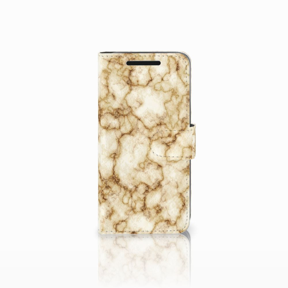 HTC One M9 Bookcase Marmer Goud