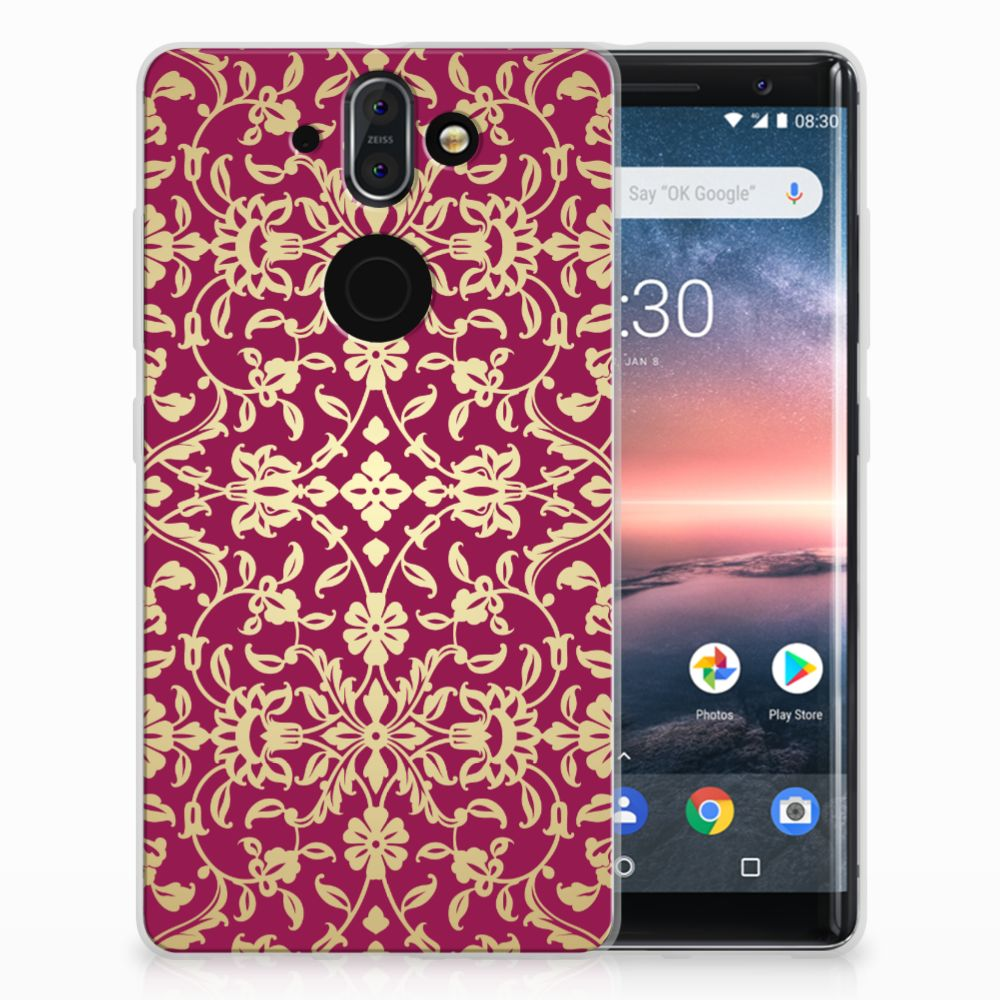 Nokia 9 | 8 Sirocco TPU Hoesje Design Barok Pink