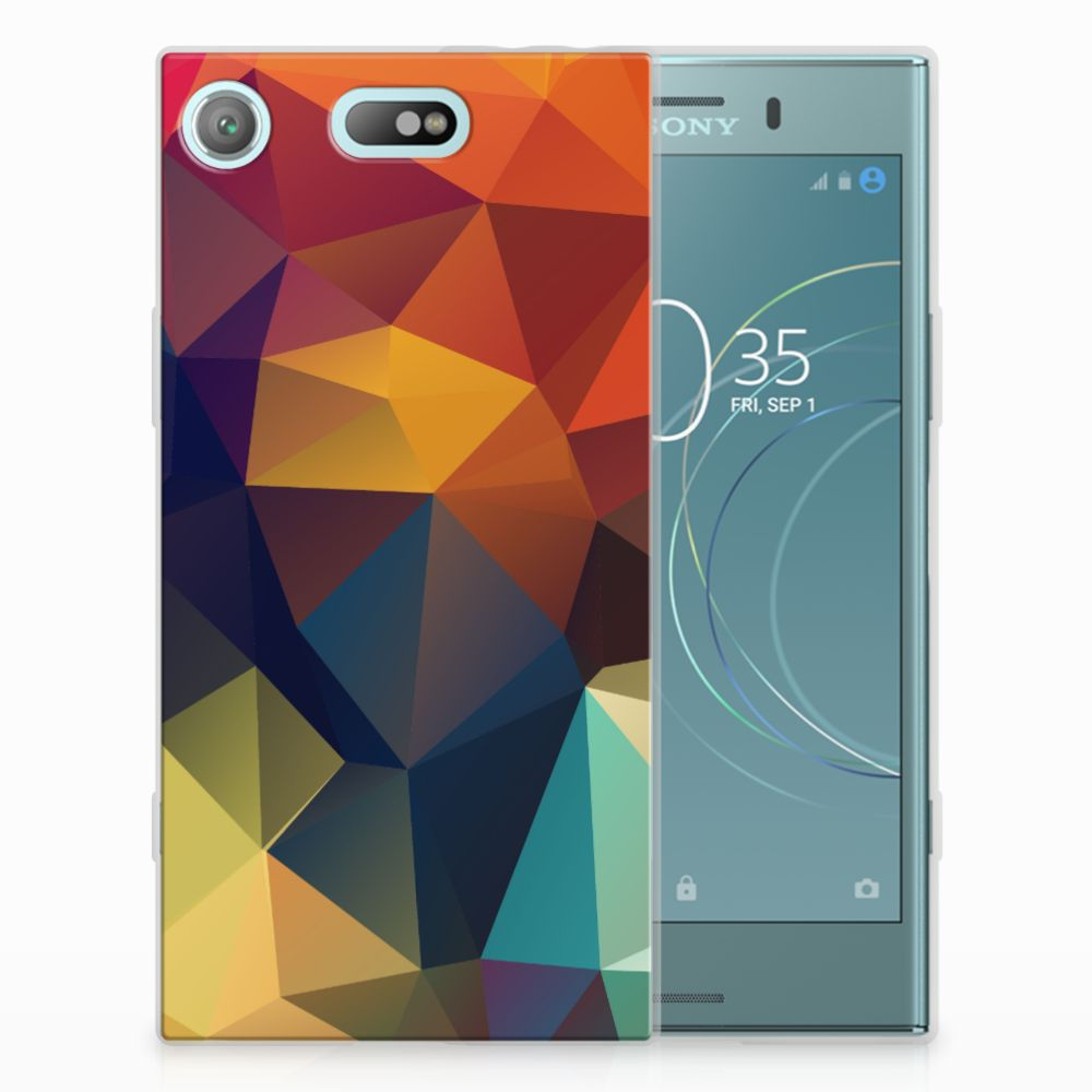 Sony Xperia XZ1 Compact TPU Hoesje Design Polygon Color