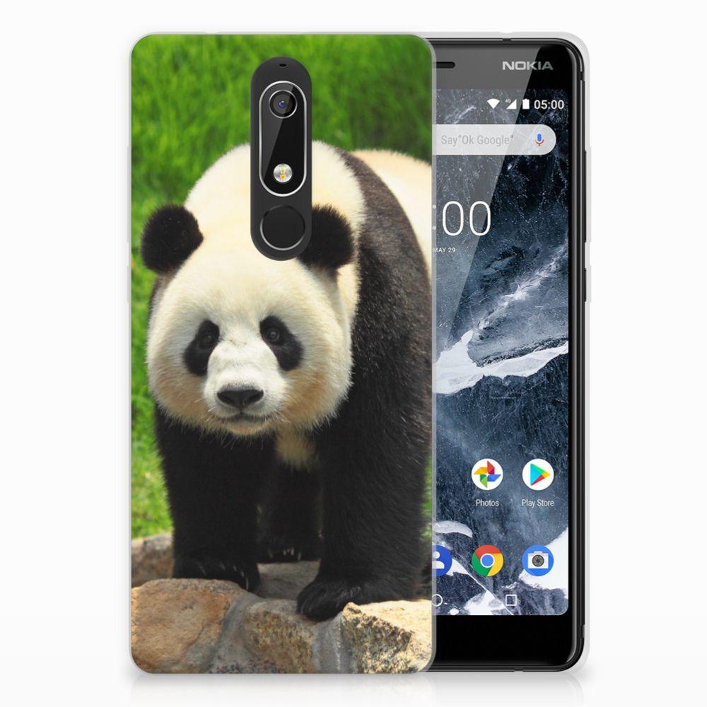 Nokia 5.1 (2018) TPU Hoesje Design Panda