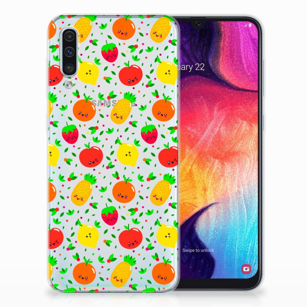 Samsung Galaxy A50 Siliconen Case Fruits