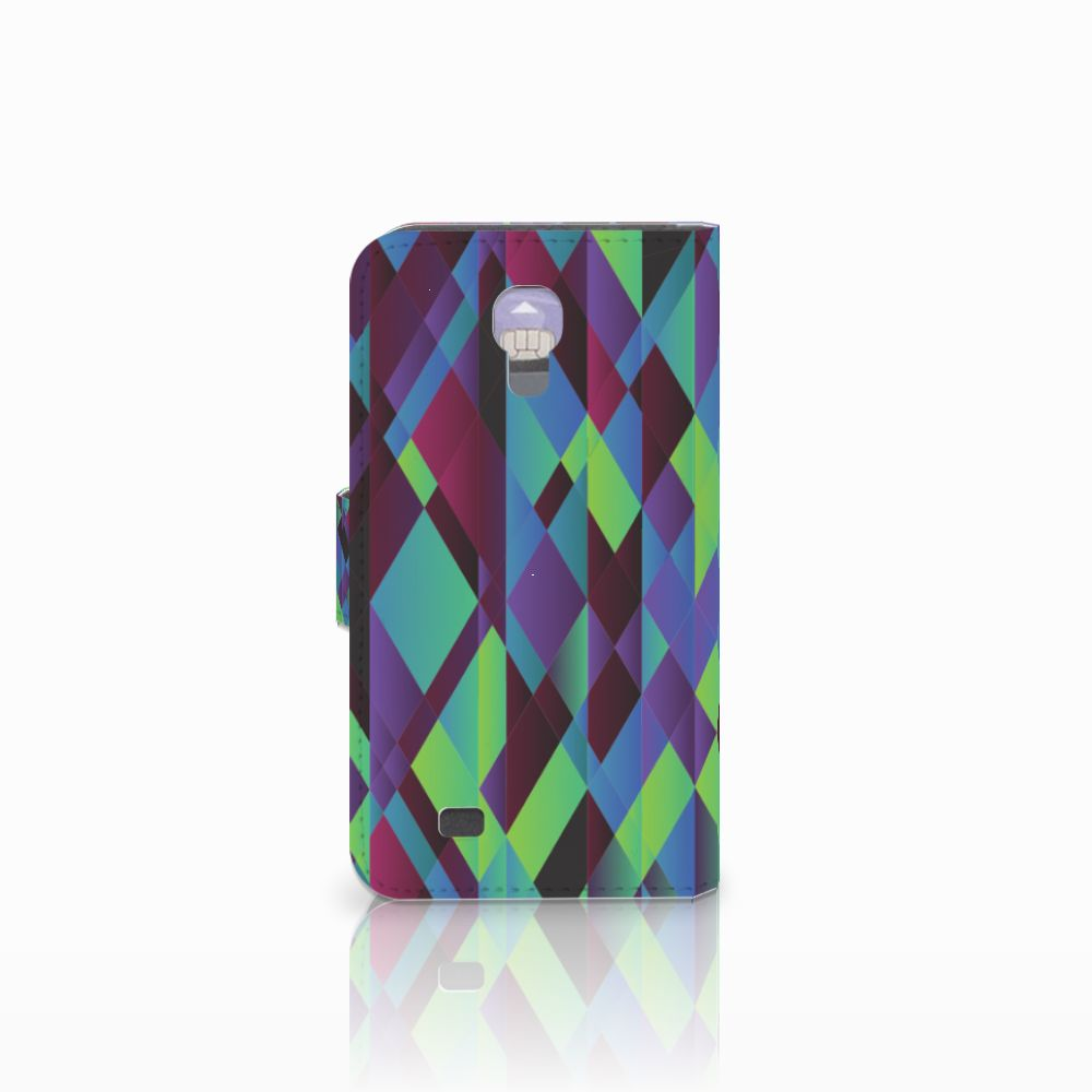 Samsung Galaxy S4 Bookcase Abstract Green Blue