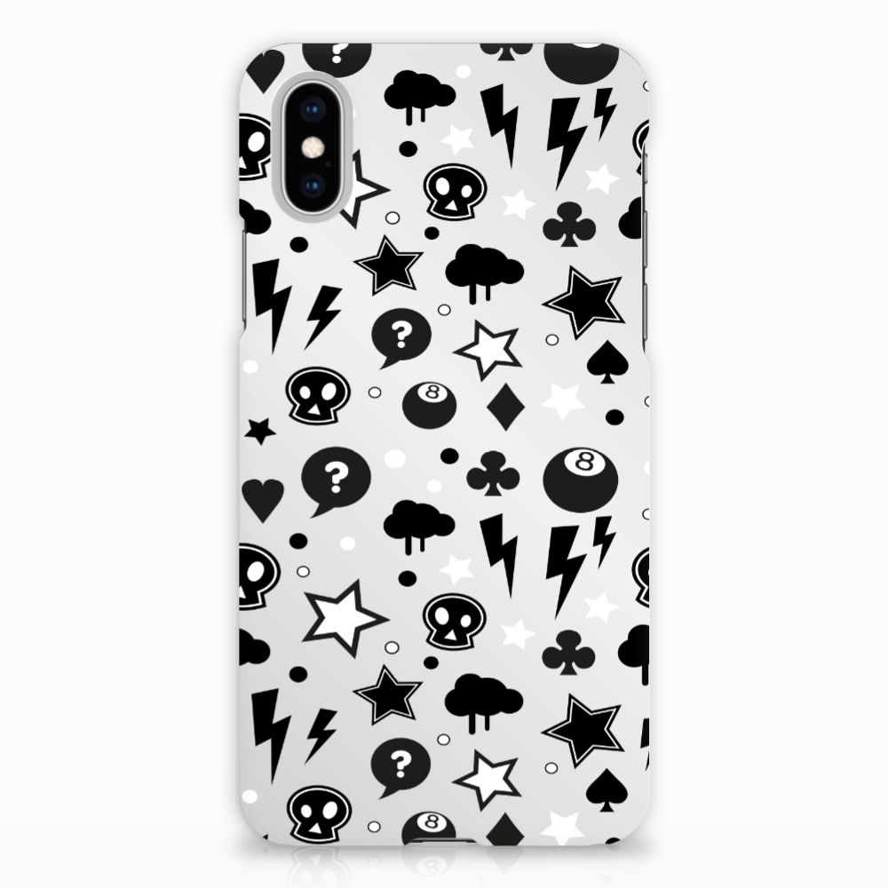 Apple iPhone X | Xs Uniek Hardcase Hoesje Silver Punk