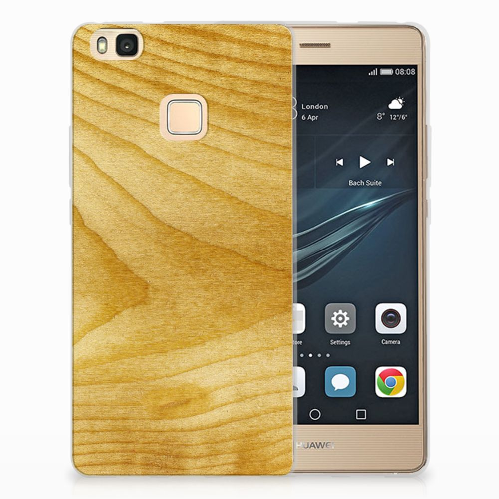 Huawei P9 Lite Uniek TPU Hoesje Licht Hout