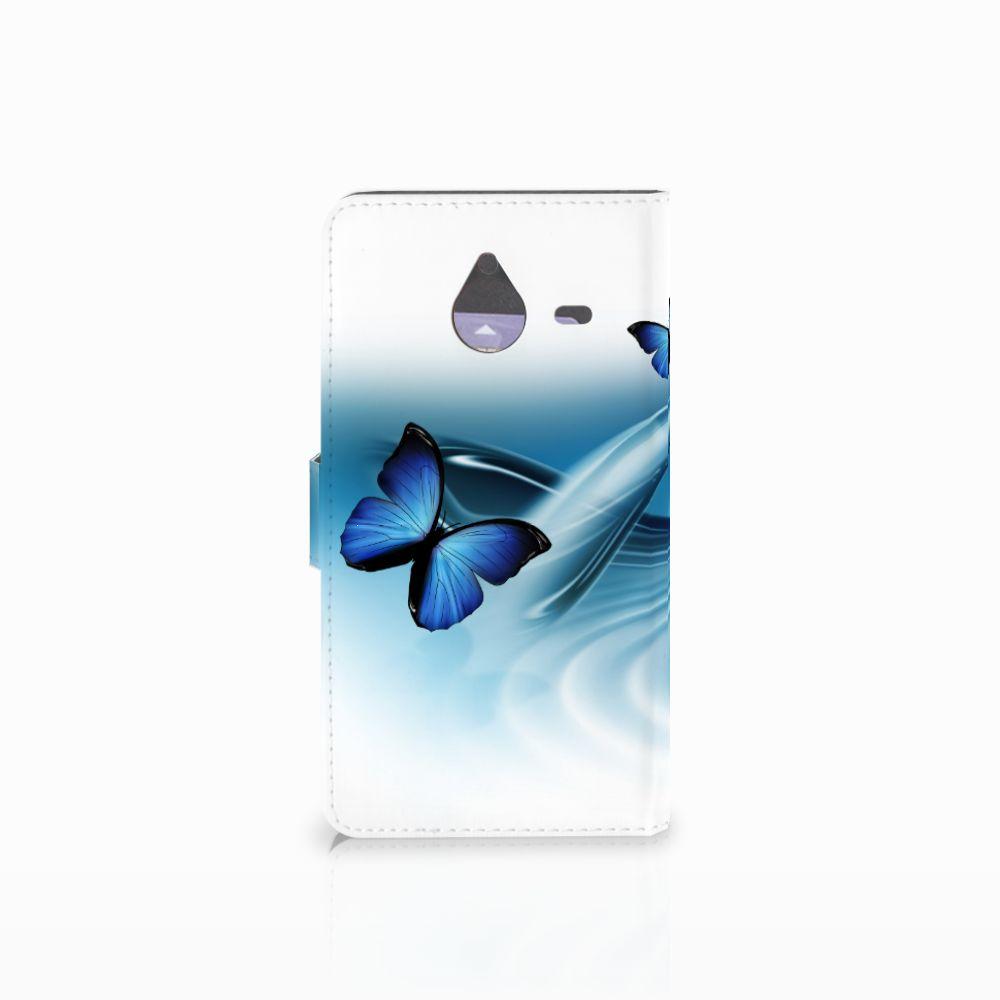Microsoft Lumia 640 XL Telefoonhoesje met Pasjes Vlinders