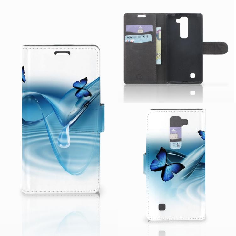 LG Magna | G4C Telefoonhoesje met Pasjes Vlinders
