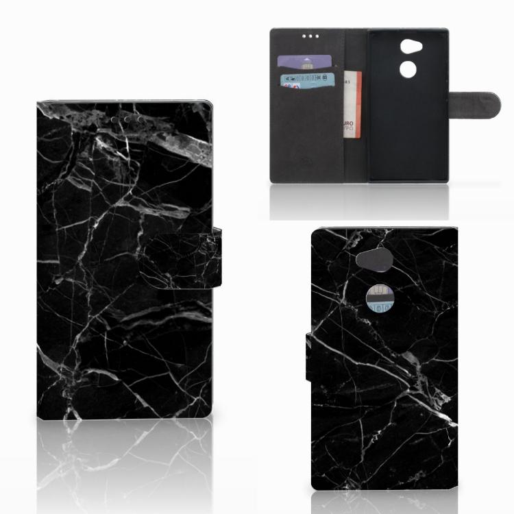 Sony Xperia L2 Bookcase Marmer Zwart