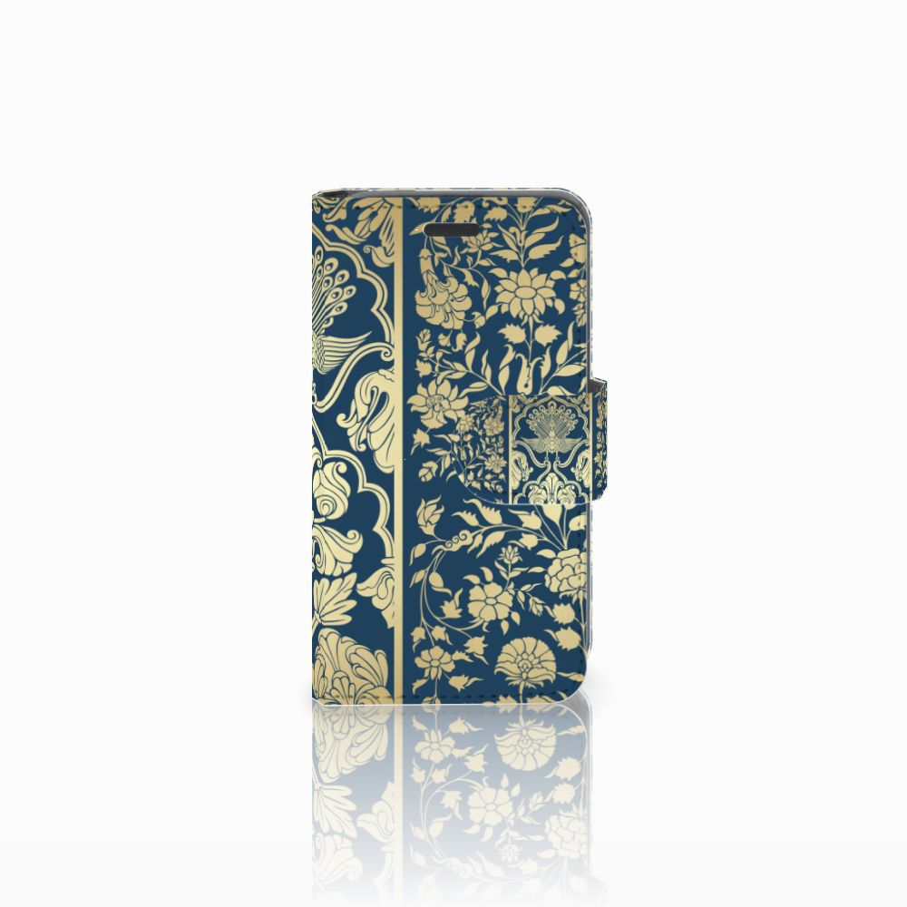Nokia Lumia 520 Uniek Boekhoesje Golden Flowers