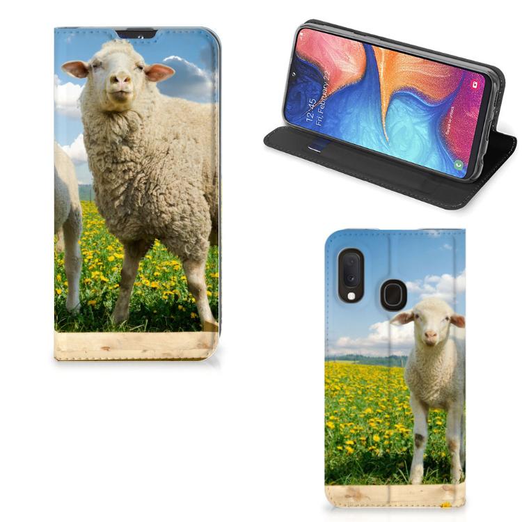 Samsung Galaxy A20e Hoesje maken Schaap en Lammetje