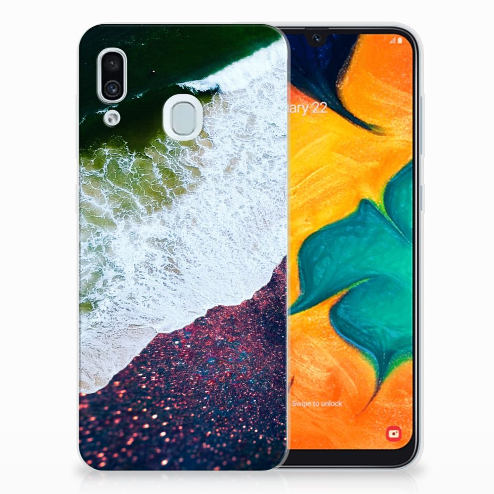 Samsung Galaxy A30 TPU Hoesje Sea in Space
