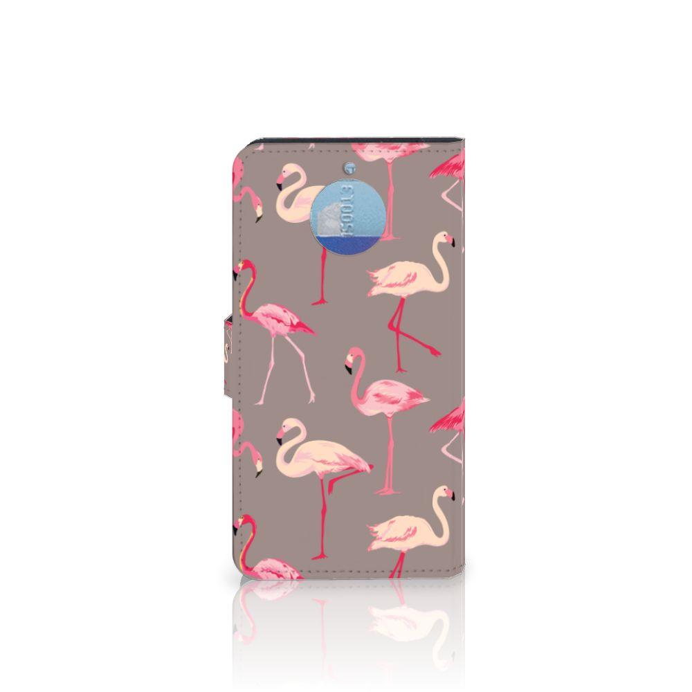 Motorola Moto G5S Plus Telefoonhoesje met Pasjes Flamingo