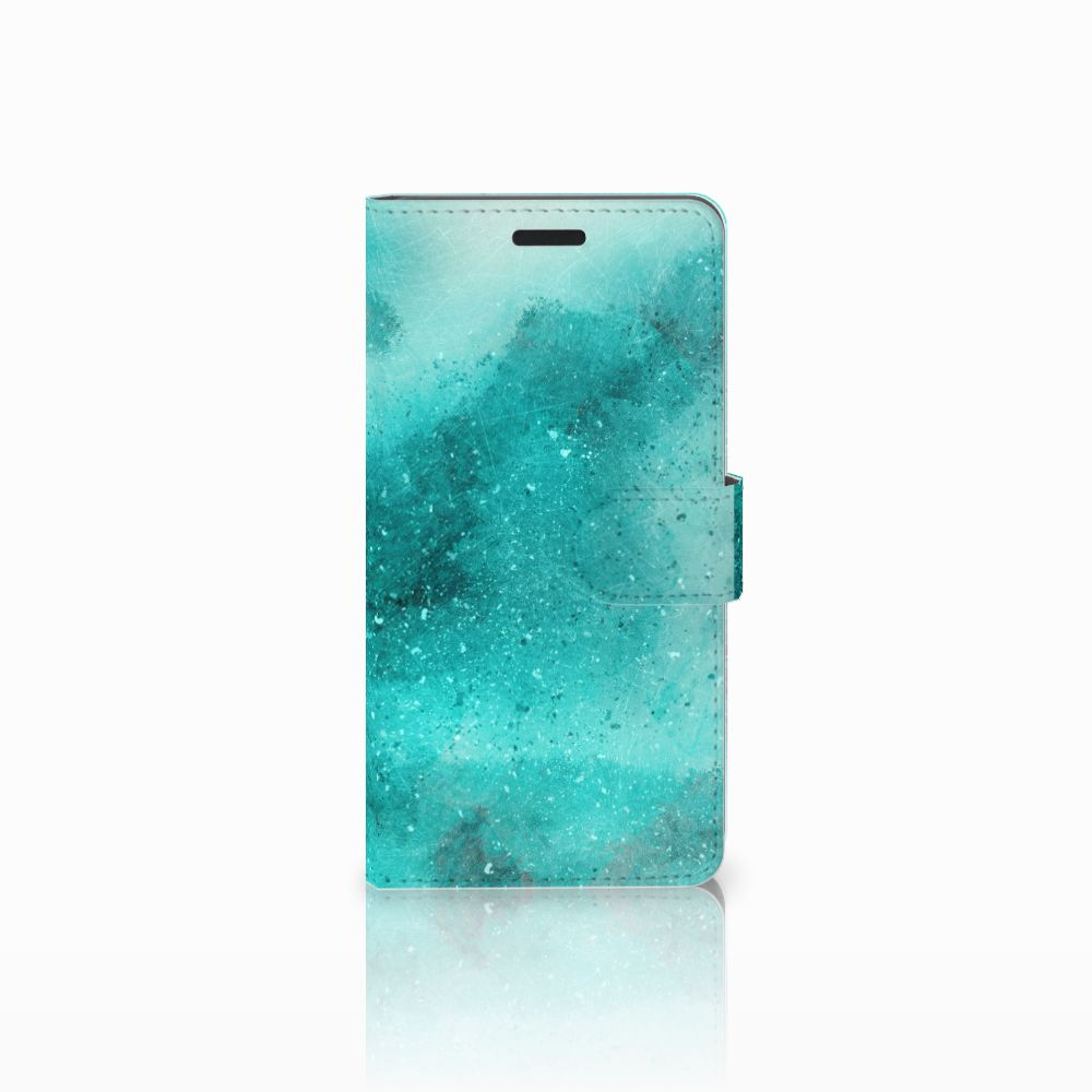 Samsung Galaxy A7 2015 Uniek Boekhoesje Painting Blue