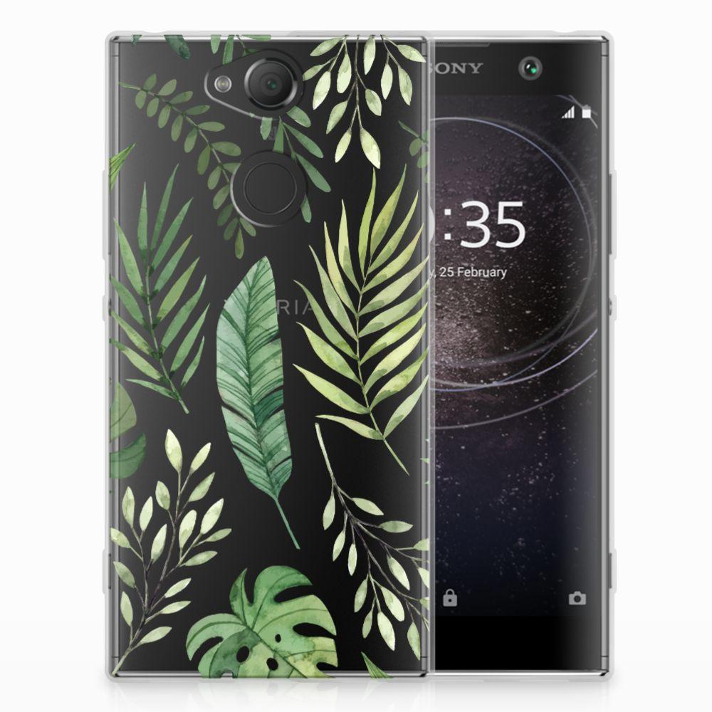 Sony Xperia XA2 Uniek TPU Hoesje Leaves