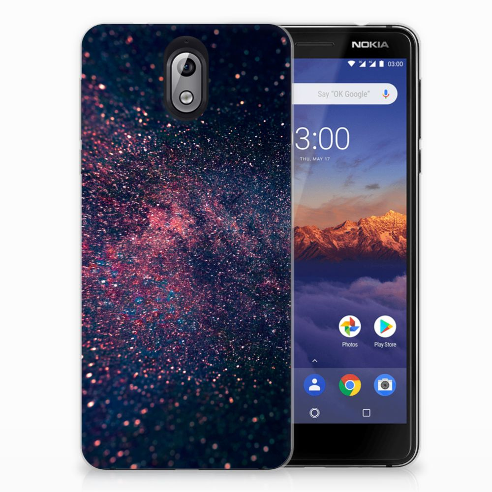 Nokia 3.1 (2018) TPU Hoesje Stars