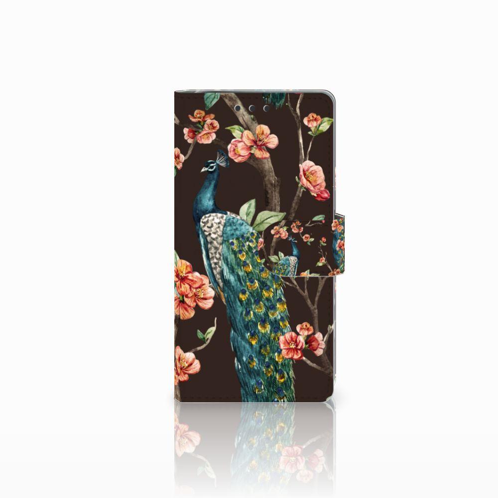 Sony Xperia X Performance Boekhoesje Design Pauw met Bloemen