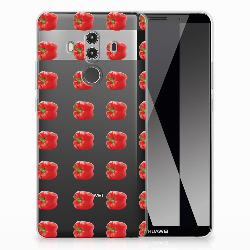 Huawei Mate 10 Pro TPU Hoesje Design Paprika Red