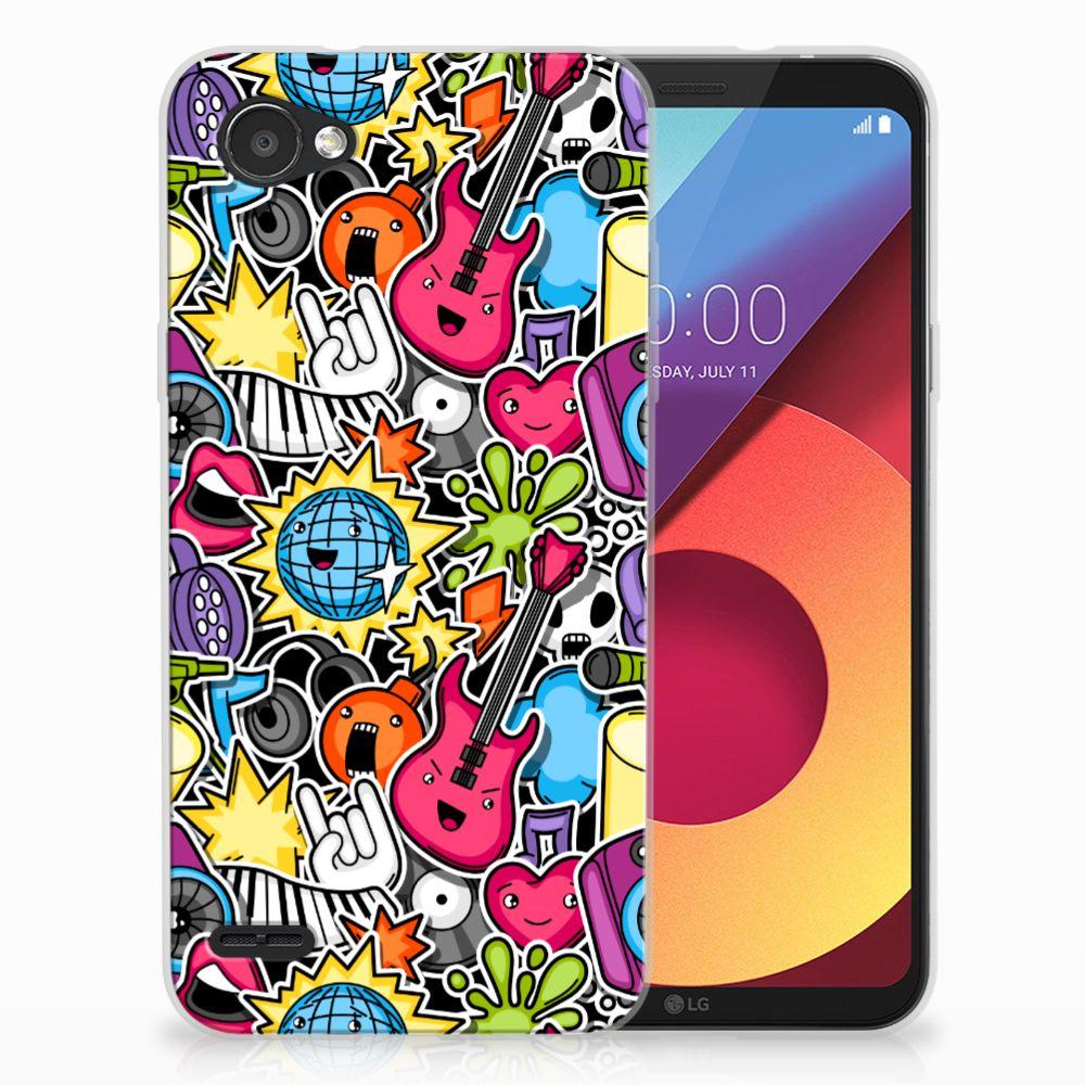 LG Q6   LG Q6 Plus Uniek TPU Hoesje Punk Rock