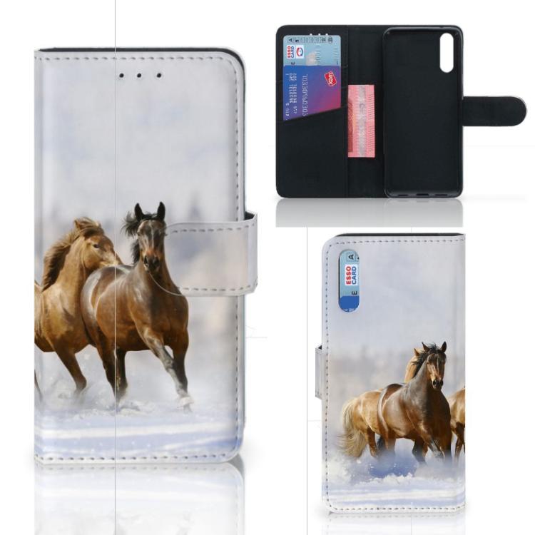 Huawei P20 Telefoonhoesje met Pasjes Paarden