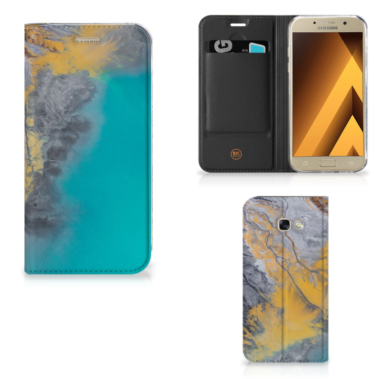 Samsung Galaxy A5 2017 Standcase Marble Blue Gold
